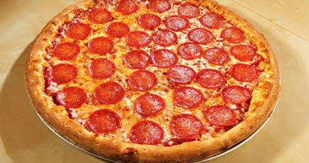 Pizza Mambo Pepperoni Pizzas are huge and delicious