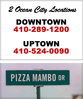 Free Pizza Delivery until 4 AM in Ocean City Maryland