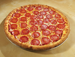 Large pepperoni pizzas at Pizza Mambo